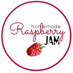 Raspberry Jam Recipe without Pectin - The Idea Room LABELS - for peach, grape, strawberry and raspberry jam Apricot Jam Recipes, Raspberry Recipes, Fruit Recipes, Syrup Recipes, Yummy Recipes, Canning Labels, Canning Recipes, Jam Recipe Without Pectin, Homemade Strawberry Jam