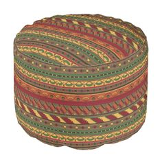 Shop Ethnic background pouf created by boutiquey. Geometric Graphic, Backdrop Background, Large Furniture, Poufs, Backdrops, Ethnic, Oriental, Decorative Boxes, Mexican