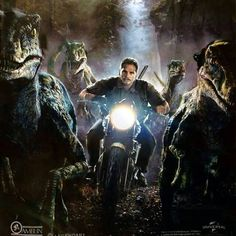 Owen and his Raptor Squad (Blue, Delta, Echo and Charlie) track the Indominus Rex, Jurassic World. Jurassic Park Film, Jurassic Movies, Blue Jurassic World, Jurassic World Raptors, Jurassic World Fallen Kingdom, Michael Crichton, Chris Pratt, Jurrassic Park, Science Fiction