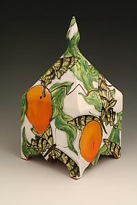 Butterfly Garden Box by Farraday Newsome: Ceramic Box available at www.artfulhome.com