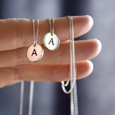 Personalised Initial Necklace Initial Necklace, Arrow Necklace, Sterling Silver Chains, Initials, Pendant, Crafts, Handmade, Jewelry, Manualidades