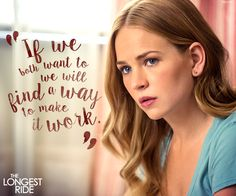 I want to make this work. Watch The #LongestRide this weekend on Digital HD. On Blu-Ray & DVD July 14.