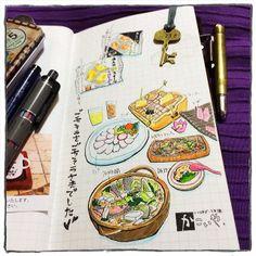 travel diary - sketchbook - journal. .@mocafe_mican   #travelersnote #お絵描き   Webstagram