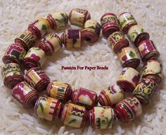 Paper Bead Canceled Postage Stamps Shades by PassionForPaperBeads