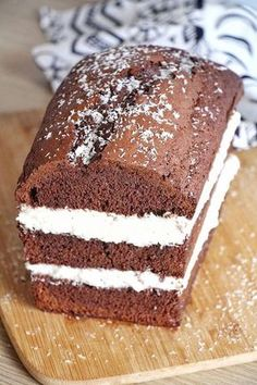 Chocolate Cake, Coconut Cream Source by nolwennserrecourt Tuna Cakes, Cake Recipes From Scratch, Sweet Cakes, Savoury Cake, Summer Desserts, Cooking Time, Vanilla Cake, Chocolate Cake, Sweet Recipes