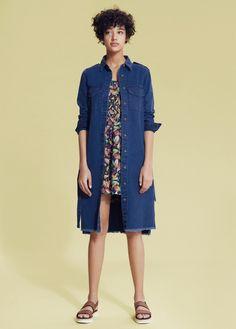 Coats for spring 2016 / Płaszcze na wiosnę 2016 - Mango, 230 zł #coats #spring #2016 #mango #blue #fashion #denim #denimcoat