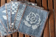 Upcycle Your Old Jeans into Chic Cocktail Napkins via Brit + Co.