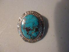 Vintage Native American Small Turquoise Pendant by BathoryZ, $59.00