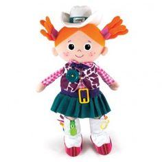 Potencia las habilidades motrices de tu hijo. Viste y desviste a esta bonita muñeca.