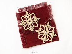 Lace-up Ivory earrings Celin Great festive earring