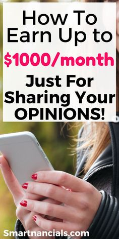 How to earn REAL money for sharing your opinions! Pinning for sure! Paid online survey sites| Ways to make extra money| online surveys canada| Survey sites that pay