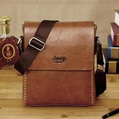 The New Jeep Messenger Bag. Time To Dress Smart For Work - Premium Leather