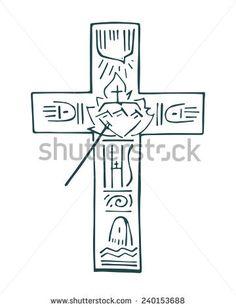 Cross of life Holy Symbol, Jesus On The Cross, Future Tattoos, Doodle Art, Painting & Drawing, Fe, Catholic, Churchill, Jesus Drawings