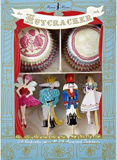 Nutcracker Cupcake Decorating Kit by HeyYoYo on Etsy