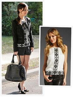 Rachel Bilson's character Dr. Zoe Hart in an ivory embroidered silk top from the Elizabeth and James line. LOVE.