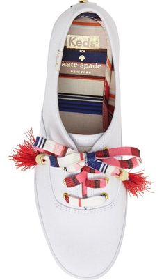 Keds® for kate spade new york kick print sneaker (Women) Keds Shoes, Sock Shoes, Cute Shoes, Me Too Shoes, Shoe Boots, Shoes Sneakers, Kate Spade Keds, White Sneakers, Casual Shoes