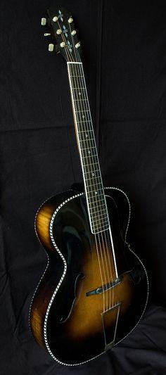 frettedchordophones:  1930's Albo Archtop Guitar =Chordophone of the day - a year ago https://www.pinterest.com/lardyfatboy/ ~