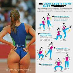 Best Bodybuilding Program: The Lean Legs Tight Butt Workout - The Best Bodyb. Fitness Workouts, Fitness Motivation, Sport Fitness, Body Fitness, At Home Workouts, Fitness Tips, Health Fitness, Fitness Foods, Health Diet