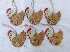Felt Crafts, Easter Crafts, Diy And Crafts, Chicken Art, Clay Art, Terracotta, Polymer Clay, Wedding Decorations, Crafty