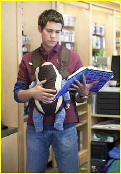 "Drew Seeley in the Hallmark movie ""Freshman Father""."
