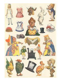 Wonderland Paper Dolls