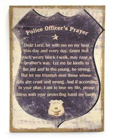 Police Wall Decor policeman's prayer signgranartgranart on etsy, $135.00