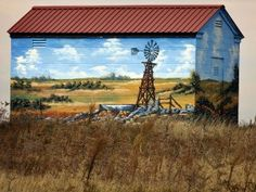Painted building, west Texas panhande.
