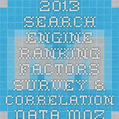 2013 Search Engine Ranking Factors Survey & Correlation Data - Moz