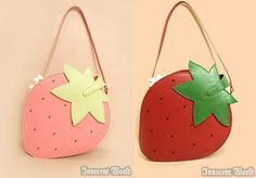 Strawberry Purse in pink or red, Innocent World 2010?