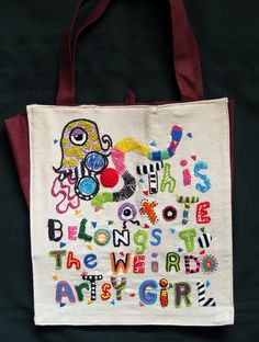 Hand Embroidery on a tote bag | Flickr - Photo Sharing!