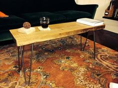 Reclaimed+Urban+Wood+Bench+w/+Hairpin+Legs++Free+by+DendroCo,+$150.00