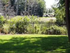 Made in Michigan exclusively for Fence Consultants of West Michigan. Third Rail, Aluminum Fence, Michigan, Vineyard, Bronze, Outdoor, Outdoors, Aluminium Fencing, Vine Yard
