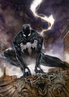 Black Spiderman by Tom Fleming