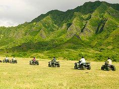 Go ATVing at Kualoa Ranch, Oahu