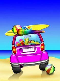 Summer Holidays Car Travel
