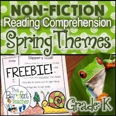 Help your Kindergarten students develop a confidence in their reading comprehension abilities while having fun and learning about spring at the same time! This free download will go right along with the other Spring activities and crafts you have planned for your class.