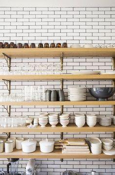 14x metrotegels in de keuken