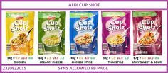 Aldi cup shot Syns slimming world Slimming World Snacks, Aldi Recipes, Shot Cups, Creamy Cheese, Spicy, Chicken, Sweet, Food, Candy