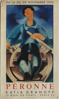PERONNE Louis (1892-1963) - affiche Mourlot - expo Galerie Katia Granoff
