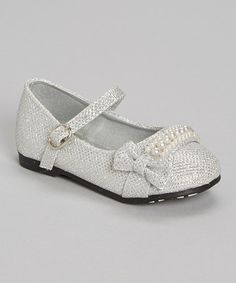 This Silver Pearl Precious Mary Jane is perfect! #zulilyfinds