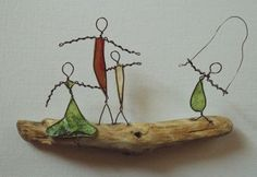 Driftwood, Copper Wire & Paper...