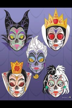 Love these for tattoos, especially the Maleficent one!!