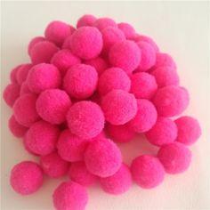 50/80Pcs 20mm Multi Option Rose Red Pompoms Soft Pom Poms Balls Pompom Fur Craft DIY Soft Wedding Decoration Wreaths Accessories
