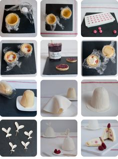 White rabbit cakes with coco mousse