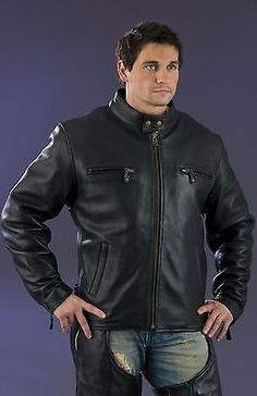 MEN'S MOTORYCLE RIDERS SCOTER JACKET WITH FULL SLEEVE ZIPOUT LINR W/2 GUNPOCKETS