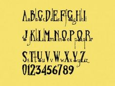 Cool Tattoo Fonts: Awesome Zombified Tattoo Font Designs ~ tattoosartdesigns.com Tattoo Ideas Inspiration