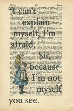 Alice in wonderland bools quotes