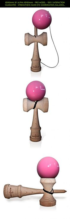 Kendama by Alpha Kendama - Pro Model - 100% SATISFACTION GUARANTEE - Strengthens Hand-Eye Coordination, Balance, and Reflex - Standard Size Kendama - Pink Color (Other Colors Available) #plans #eye #shopping #fpv #gadgets #racing #kit #parts #kendama #products #camera #tech #drone #technology
