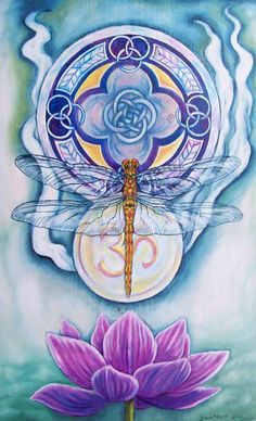 Dragonfly Spirit Painting  - Dragonfly Spirit Fine Art Print