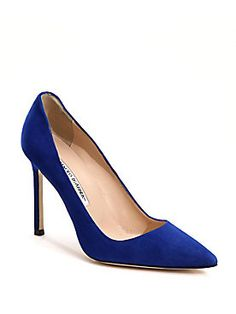 Saks.com: Tell A Friend About Manolo Blahnik - BB Suede Point-Toe Pumps